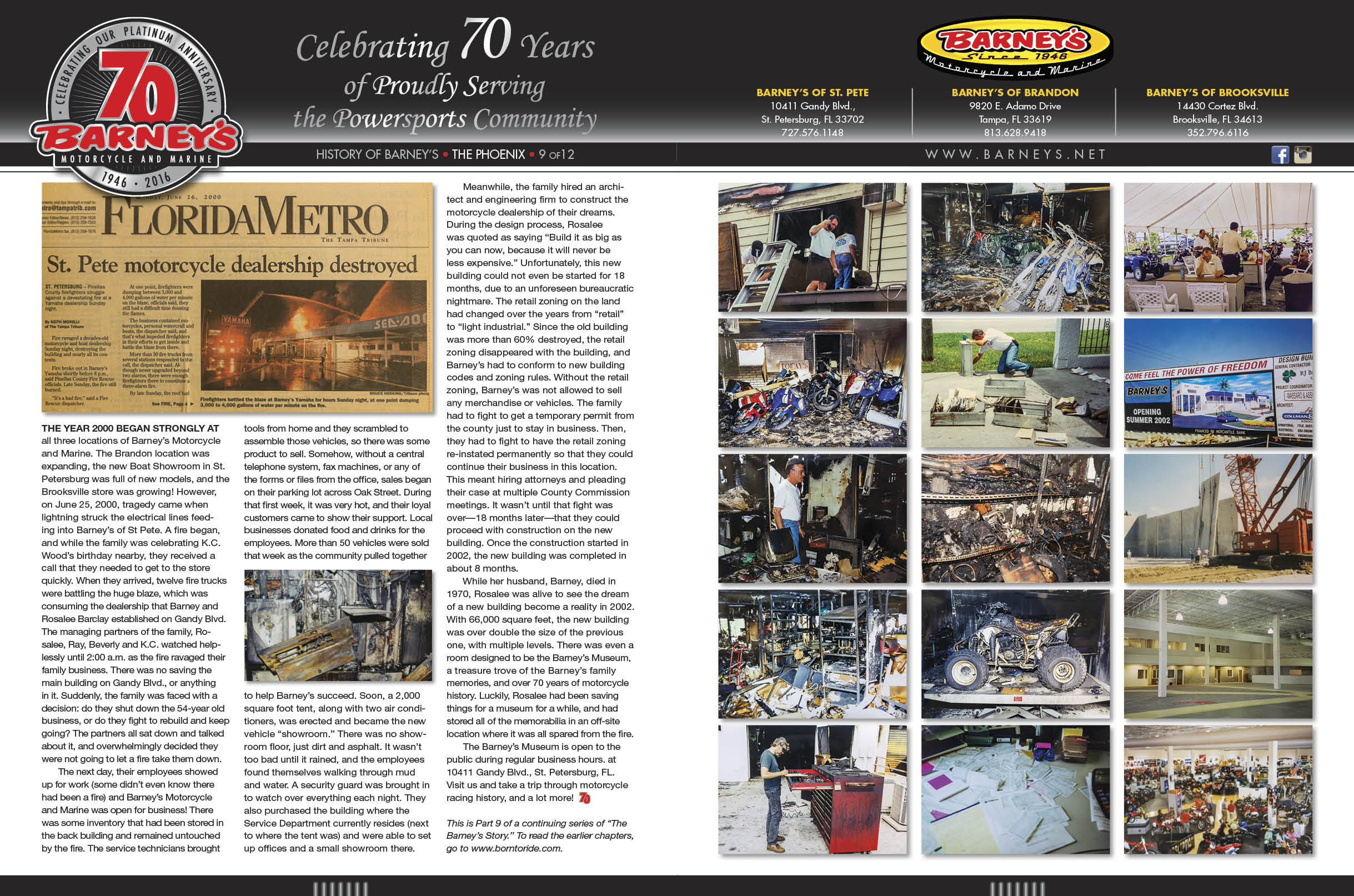 Our History | Barney's of St  Pete | St  Petersburg Florida